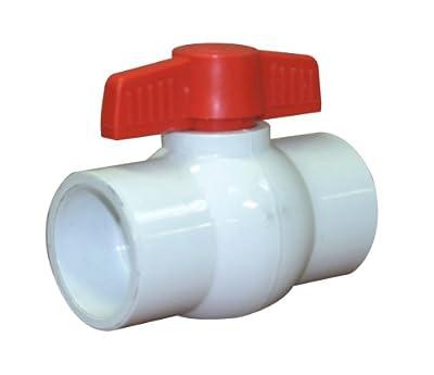 "Valterra 700-15 PVC Ball Valve, White, 1-1/2"" Slip from Valterra Products"