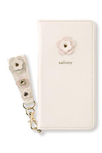 salisty P iPhone SE 2020 第2世代/8/7/6s/6 ケース 手帳型 フラワースタッズ [オフホワイト]