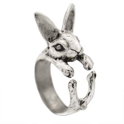 Women Adjustable Vintage Hippie Chic Handmade Rabbit Bunny Knuckles Rings Gift, Cute Animal Rings Animal Pet Fashion Jewelry