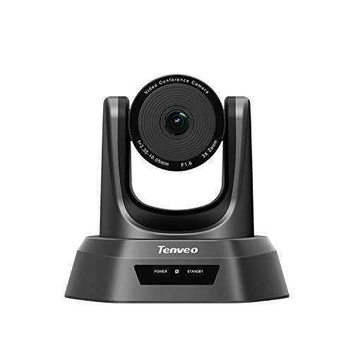 SUFUL Tenveo NV-3U 3x USB PTZ Cámara para videoconferencia zoom óptico cámara de conferencia, cámara web de gran angular 1080p Full HD con control remoto (Tenveo NV-3U)