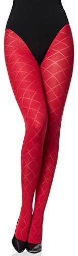 Merry Style Damen blickdichte Strumpfhose MS 328 60 DEN(Rot, M (36-40))