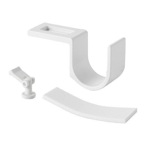 IKEA VIDGA Halter für Gardinenstange in weiß