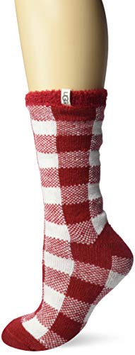 UGG Women's Vanna Check Fleece Lined Sock