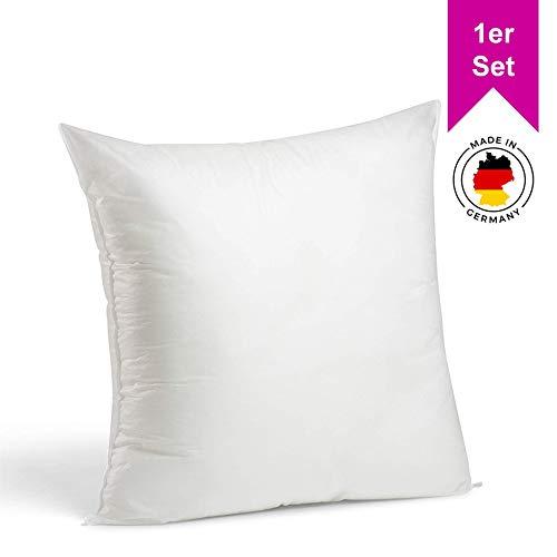LILENO HOME 1er Set Kissenfüllung 45x45 cm - waschbares Innenkissen geeignet für Allergiker - Polyester Kisseninlet als Couchkissen, Sofa Kissen, Cocktailkissen und Kopfkissen