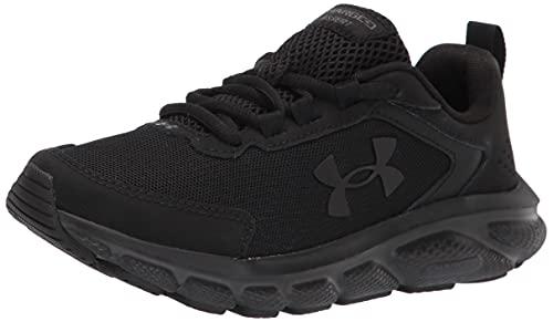 Under Armour womens Charged Assert 9 Running Shoe, Black (002 Black, 8.5 US