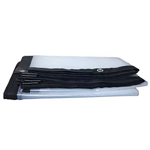 BAILR Lona Impermeable Transparente 4m×10m, Lona Alquitranada Impermeable con Ojales, Lonas Resistente a La Rotura y Protección Solar, para Invernadero Plantas Cubiertas Aislamiento Lluvia Toldos