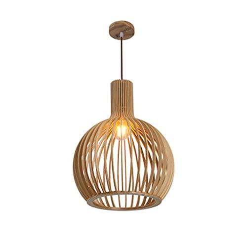 LYHD Lámpara Colgante De Bambú Tejida Linterna Antigua Lámpara De Techo Iluminación De Techo Lámpara De Mimbre con Sombra De Nube para Comedor Sala De Estar Restaurante