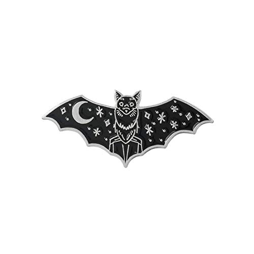 JPOYT *Fashion Trend Combination Badge Spreading Wings Starry Bat Alien Gamepad Tired Personality Brooch(Size:7)