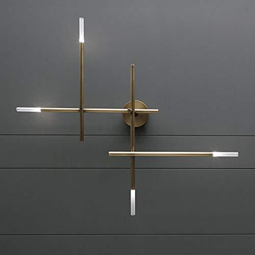Hancoc Golden Post-Modern American Living Room Dormitorio Pasillo Decoración Lámpara De Pared De Cobre Nórdico Minimalista Personalidad Creativo Lámparas De Diseño