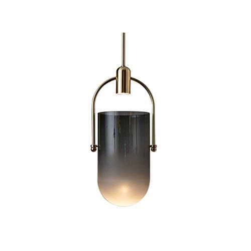 Schlafzimmer Bettseite Pendelleuchte Glaszylinder Lampenschirm E27 Esszimmer Wohnzimmer Lampe Arbeitszimmer Loft Flur Treppe Leuchtung Verstellbare Höhe 150cm Minimalistisch,19cm