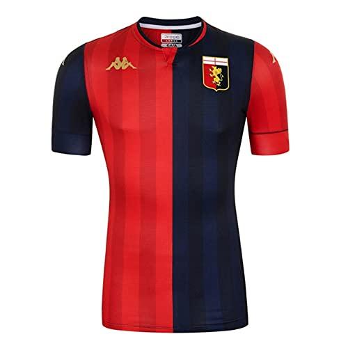Kappa 2021-2022 Genoa Home Football Soccer T-Shirt Maglia