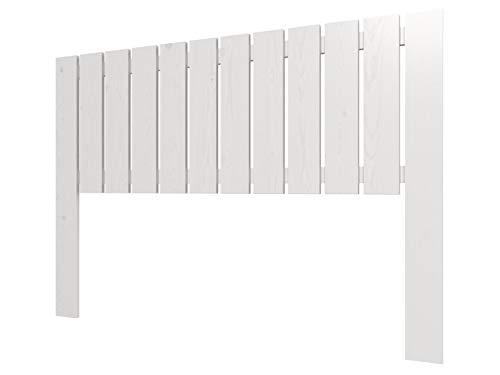 LA WEB DEL COLCHON - Cabecero de Madera Rústico Córcega para Cama de 180 (190 x 100 cms) Blanco nórdico | Cabeceros Madera | Dormitorio Matrimonio | Cabezal Cama |Estilo nórdico