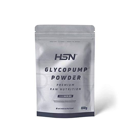 Glicerol de HSN   Glycopump® Powder   100% Puro en Polvo   Asegura la Hidratación en Deportes de Resistencia   Vegano, Sin Gluten, Sin Lactosa, Sabor Natural, 150 gr