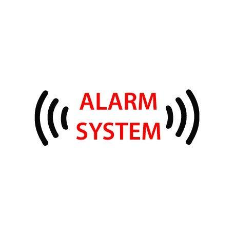 Autocollant alarme voiture sticker alarm system 16 - Taille : 4 cm