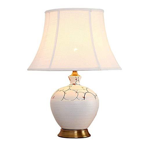 Lámpara de mesa Lámparas de Nightstand Lámpara de mesa, Cerámica blanca de la lámpara de mesa, patrón irregular cuerpo de la lámpara, Tienda de ropa Cafetería Restaurante lámpara de mesa 36 * 36 * 52c