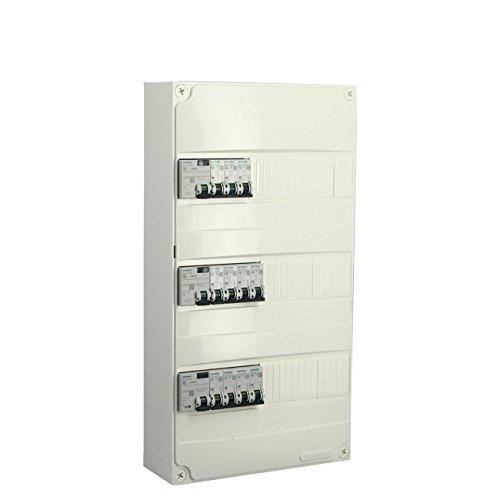 SIEMENS - Tableau électrique pré-équipé 3 rangées 39 modules 11 disjoncteurs 3 interrupteurs différentiels NFC 15-100