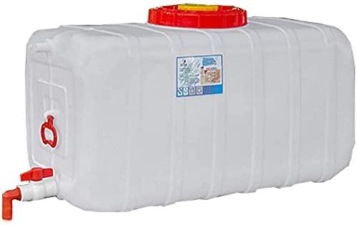 WXking Tanque de Almacenamiento de Agua de plástico para el hogar, Recipiente Rectangular de Almacenamiento de Agua de Gran Capacidad, Cubo Espesado al Aire Libre con asa y válvula (Size : 25L)