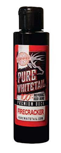 Pure Whitetail Ultra Premium Buck Urine - 4 oz, Fresh 100% Pure Mock Scrape Attractant and Calming Cover Scent from One Individual Buck