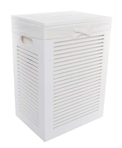 Dvier Wäschekorb, MDF, weiß, 40x30 h.55cm, 1 Einheiten