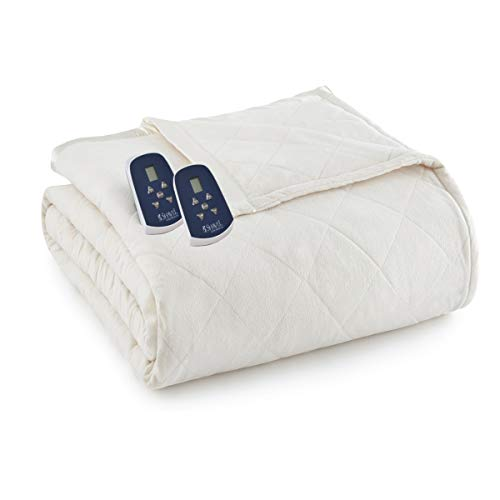 Thermee Micro Flannel Electric Blanket, Sand,...