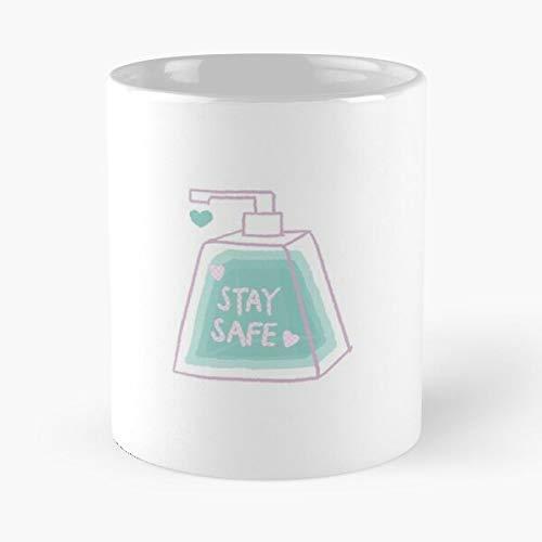 Stay Safe Coronavirus Piece Classic Mug - Ceramic Coffee White (11 Ounce) Tea Cup Nursing Appreciation Gifts For Nurse Practitioner.