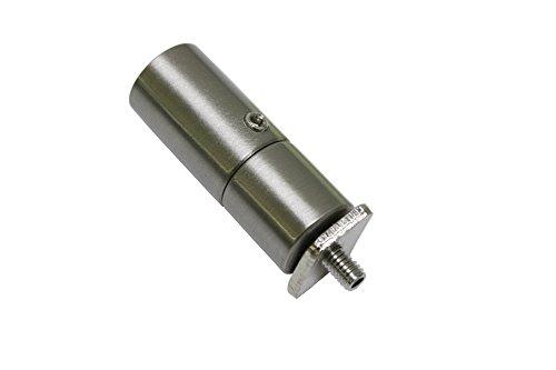 GARDINIA Deckenträger für Gardinenstangen mit zwei Innenläufen, Alle Montage-Teile inklusive, Länge 3,6 cm, Edelstahl-Optik