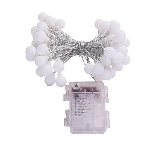 YRWL Cadena de luces con forma de bola, para interior y exterior, bodas, cumpleaños, fiestas, Navidad, Halloween, día de Acción de Gracias, funciona con pilas, color 3M20
