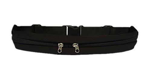 Pochette de taille LifenewBaby Fanny - Pour téléphone - Pour gym, extérieur et sports, noir