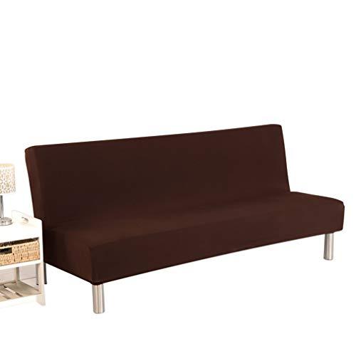 WEQQ Funda de sofá Cama Plegable Todo Incluido Cojín de sofá cómodo Universal (caféL)