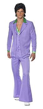 Smiffys Men s L-US Size 42 -44  Lavender 1970s Suit Costume Purple