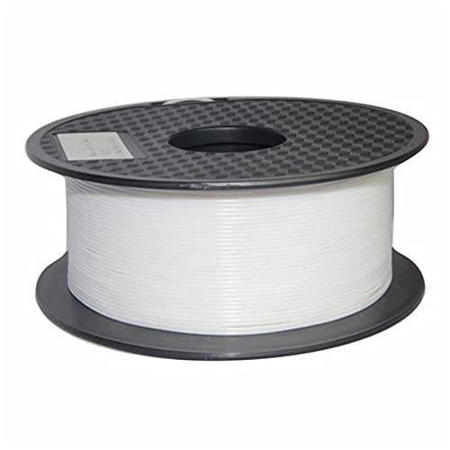 3D PLA Printing Filament 1.75mm 1KG Spule Printer Filament Bundle, Dimensional Accuracy +/- 0.02mm Printer Consumables Ohne Zeichnung Und Blockieren, for 3D-Drucker Glühfaden Und 3D-Drucker Pen (Weiß)