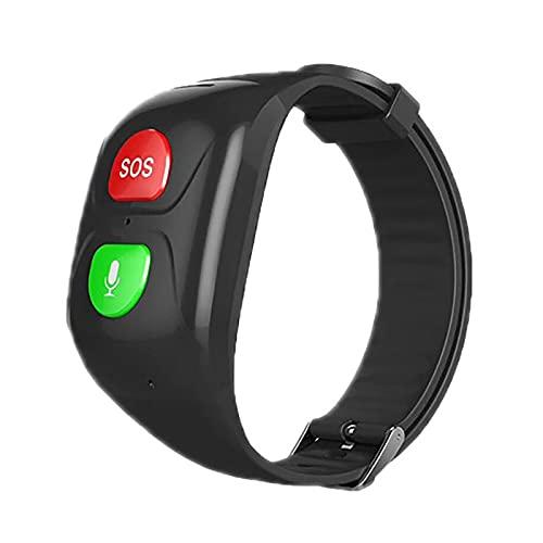 FVIWSJ Reloj Inteligente Anciano Impermeable-Smart Watch Anciano Localizador GPS Anciano,Pulsera Inteligente Reloj Inteligente Anciano Regalo,Llamada Telefónica SOS DespertadorTracker,Negro
