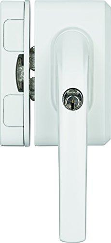 ABUS Fenster-Zusatzsicherung FO500N AL0125 - Fensterschloss mit Druckzylinder, gleichschließend - ABUS-Sicherheitslevel 10 - 71329 - Weiß