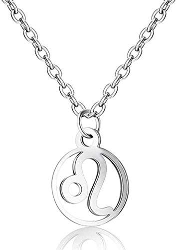 ZPPYMXGZ Co.,ltd Necklace Fashion 12 Constellations Leo Necklace Women Constellation Symbol Pendant Necklace Jewelry Size 40 + 5 cm