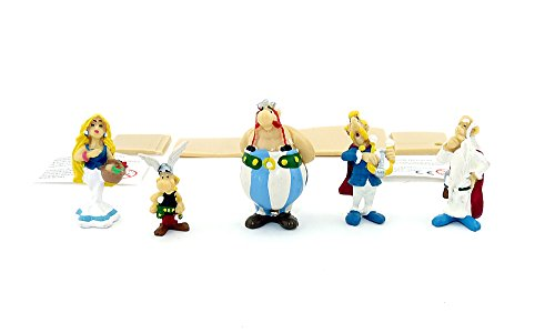 Barn överraskning fem asterix och Obelix figurer som komplett sats för samling