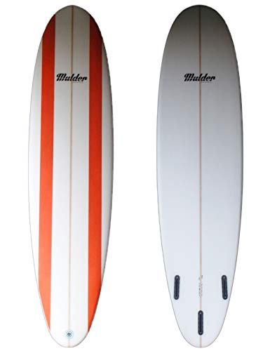 Mulder Shapes Waikiki Tabla Surf, Adultos Unisex, Líneas Naranjas, 7'6