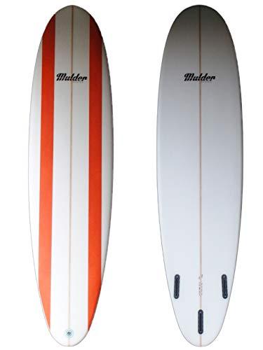 Mulder Shapes Waikiki Tabla Surf, Adultos Unisex, Líneas Naranjas, 7'6