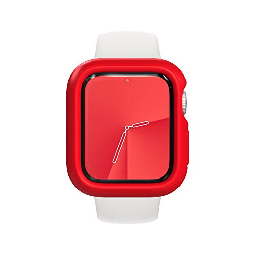RhinoShield Bumper Case compatible with Apple Watch Series 3 / 2 / 1 - [38mm] | Slim Protective Cover, Lightweight and Shock Absorbent - Red