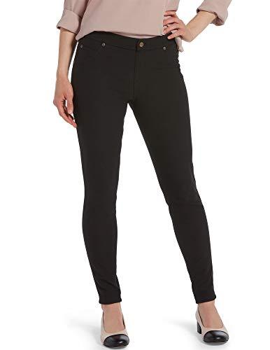 HUE Women's Ultra Soft Fleece Lined Denim Leggings, Black, Medium