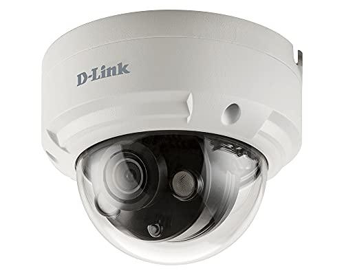 D-Link DCS-4614EK Cámara IP Dome Exteriores Vigilancia CCTV 4 megapíxeles H.265, resolución 2592 × 1520 píxeles, Visión Nocturna 30m, H.265, WDR, LowLight+, PoE, IP66, IK10, Ranura Micro SD, ONVIF