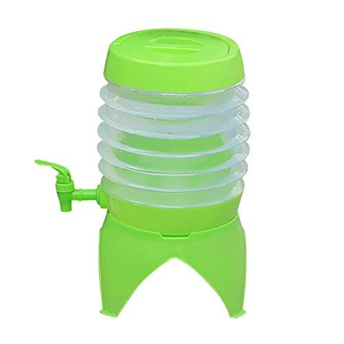 Cirdora Dispensador de agua plegable, depósito de agua con grifo, dispensador de bebidas, bidón de agua portátil, plegable, barril de cerveza de 3,5 L (bidón de agua para dispensador de agua)