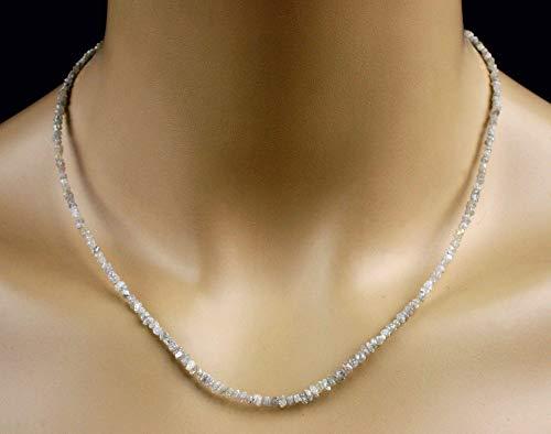 Diamant Collier in weiß, Rohdiamanten, 18 ct, Seltenheit!