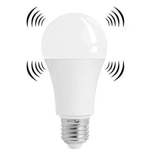 Asiawill - Bombilla LED inteligente con sensor de radar, casquillo E27, con sensor de movimiento y apagado y encendido automáticos