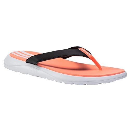 Adidas Comfort Flip Flops (black/white/coral, numeric_40_point_5)