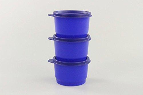 TUPPERWARE Kinder Kunterbunt 120 ml NEON blau (3) Dosen Box Behälter