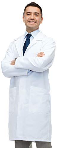 Lab Coat X Camice da Laboratorio Unisex, vestibilità Classica, 100% Cotone, Bianco (S)