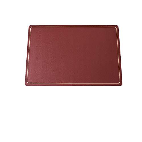 DAPAIZI Manteles Individuales De Piel Sintética PU, Impermeable, Reversible, Resistente Al Calor, Antideslizante, Lavable para Mesa De Comedor De Cocina, (5 Piezas). (B)