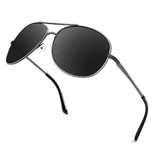 GQUEEN GQUEEN Sonnenbrille Polarisiert Piloten Sonnenbrille Pilot Flieger Pilotenbrille Herren MOZ3