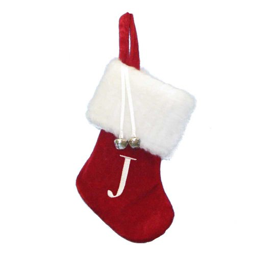 Mini Christmas Stocking with Letters and Dangling Jingle Bells