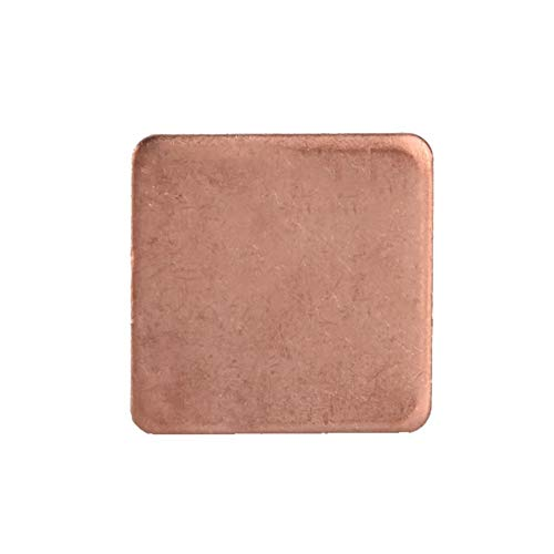 Kupfer Kühlkörper Pad, Kupferblech Shim Stück Kühlkörper Wärmeleitpad für GPU CPU Laptop , 10 Stück 20 * 20mm (Khaki2)